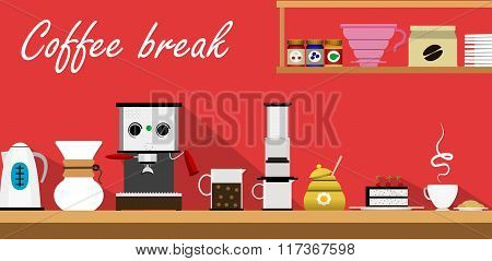 Coffee Break Background