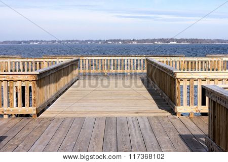 Fishing pier on the bay