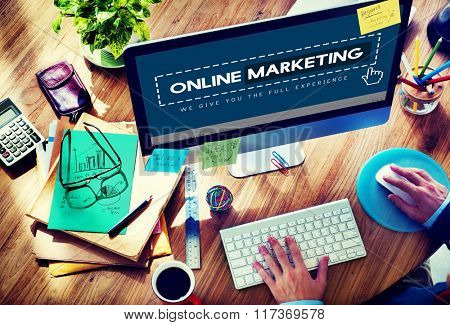 Online Marketing Advertising Branding Commerce Concept