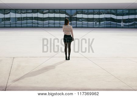 Professional Modern Business Woman Back View