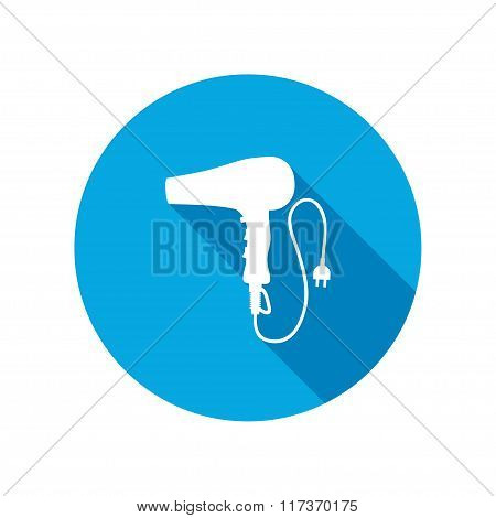 Professional blow hairdryer with two-pin plug.