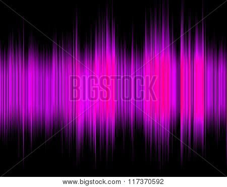 Pink abstract digital sound wave.