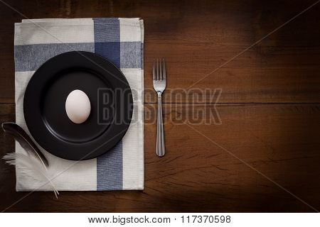 Duck Egg Flat Lay Still Life Rustic With Food Stylish