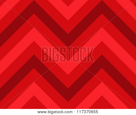 Striped, zigzagging seamless pattern. Zig-zag line texture. Stripy geometric background. Red colored