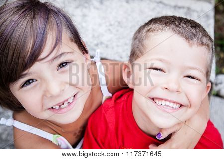 Little Siblings With Big Smiles