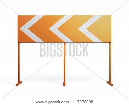 Direction indicator isolated on a white background. 3d rendering