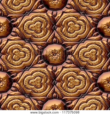 Abstract decorative iron brown texture-pattern