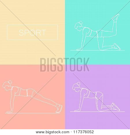 Female Exercising Silhouette