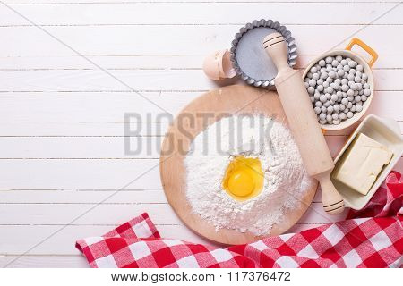 Ingredients  And Utensil For Dough