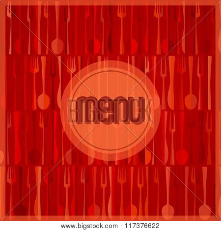 Abstract red modern restaurant or cafe menu card design