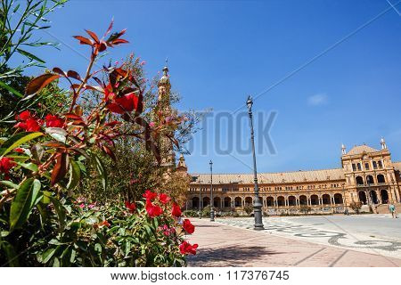 Plaza de Espana ,square of Spain, in Seville , Spain