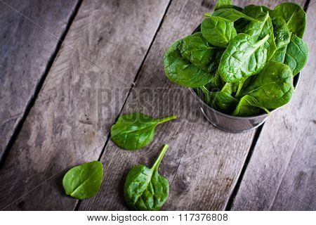 Baby spinach.