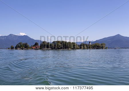 Isle Of Frauenchiemsee In Bavaria, Germany