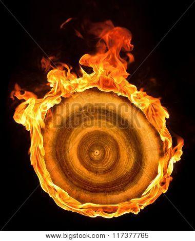 Burning Wooden Sheave