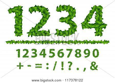 Alphabet Number Seasonal Leaves Spring