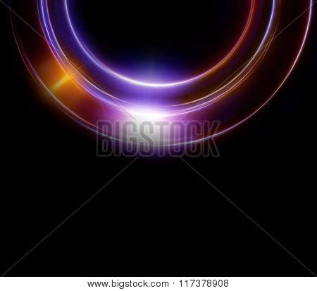 Abstract Background And Color Circle Effect, Black Background.