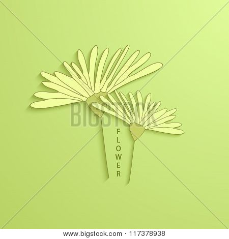 Vector modern flowers background for invitation