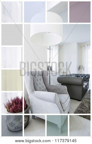 Comfortable Velour Armchair