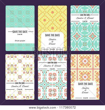 Greeting card invitation or banner. Template for your design. Vetor illustration eps10.