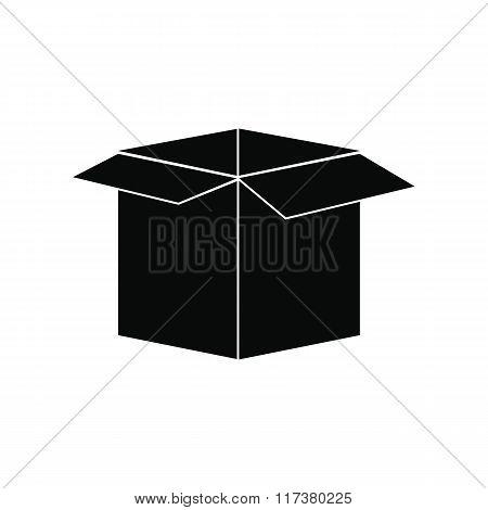 Open empty cardboard icon
