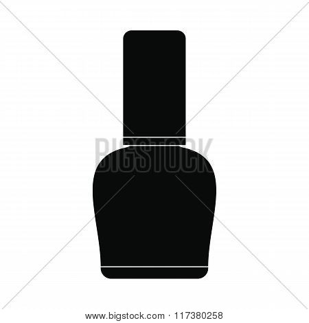 Nail polish bottle black simple icon