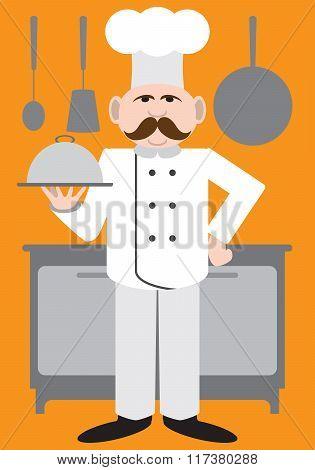 Flat Vector Chef