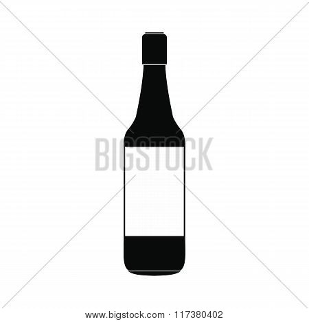 Beer bottle black simple icon
