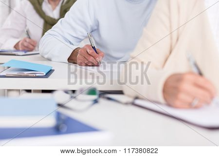 Students Writing Test