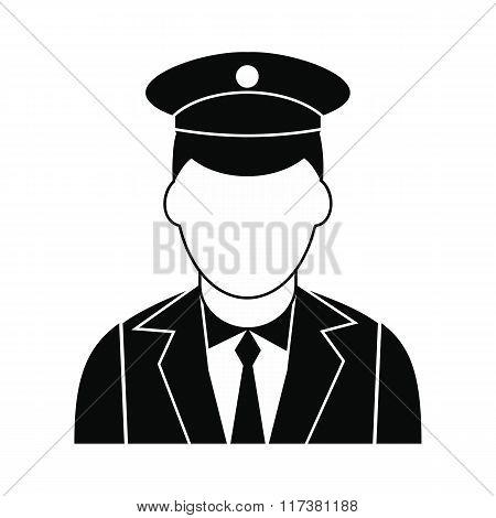 Train conductor black simple icon
