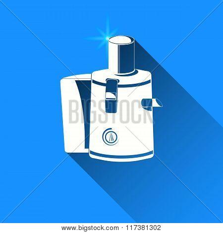 Juicer On Blue Background