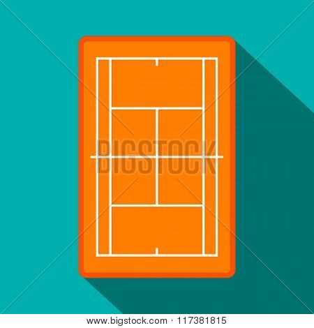 Tennis court flat icon