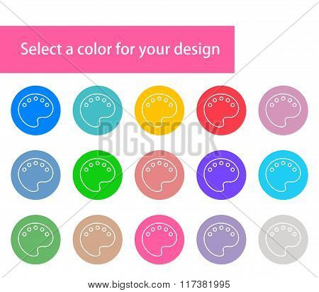 Vector modern colorful paints stroke icons