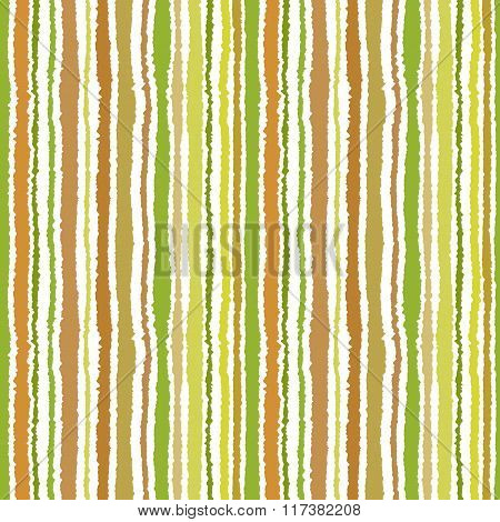 Seamless strip pattern. Vertical lines with torn paper effect. Shred edge background. Summer, warm,