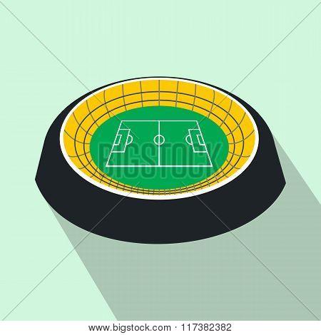 Football round stadium flat icon