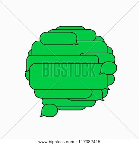 Vector modern sms or message icons. Bubble speech