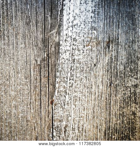 Partially Painted Shabby Wooden Surface