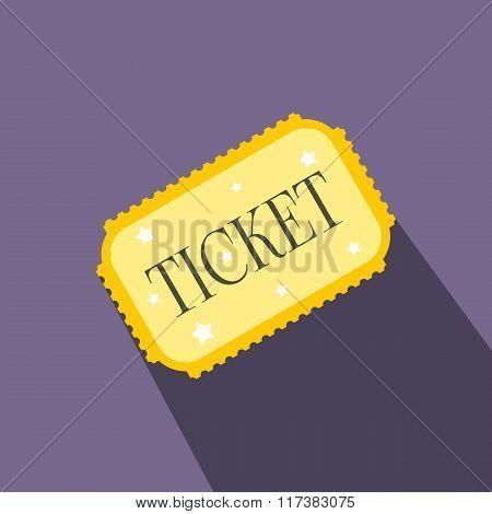 Amusement park ticket flat icon
