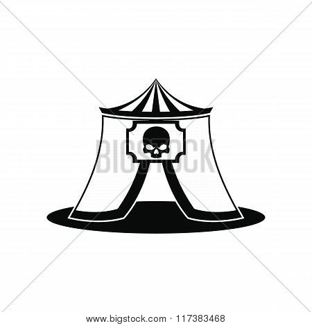 Haunted house black simple icon