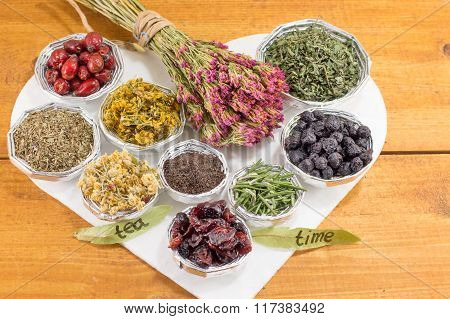 Bunches Of Raw Herbal Tea