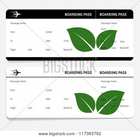 tickets leaves boarding pass