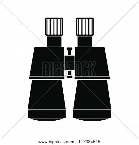Binoculars black simple icon