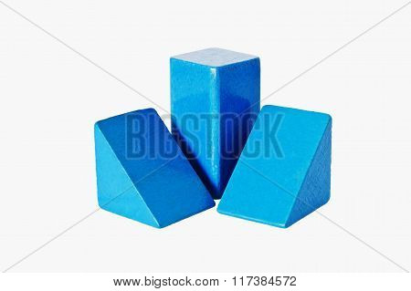 Blue Wooden Cubes