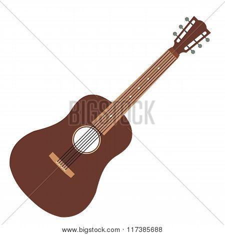 Acoustic guitar flat icon