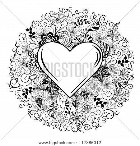 Heart Doodle Illustration