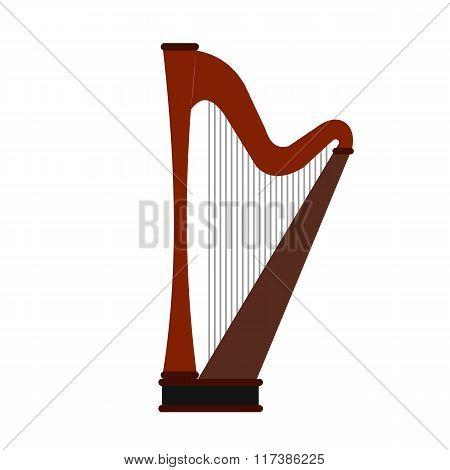 Harp flat icon
