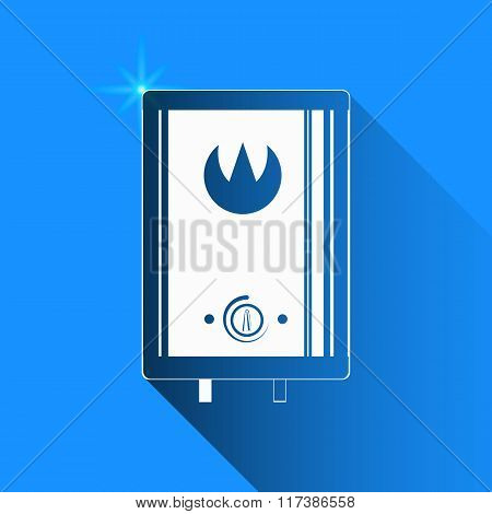 Boiler On Blue Background