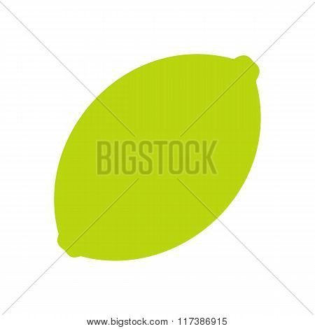 Lime flat icon