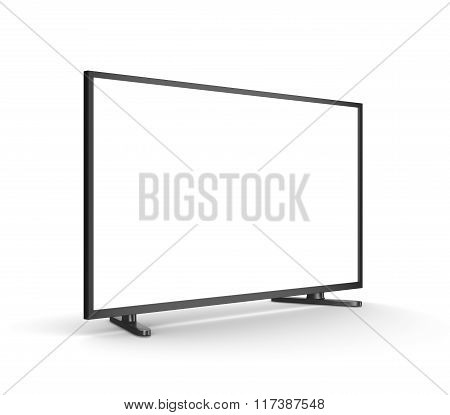 Modern Tv Set With Blank Screen