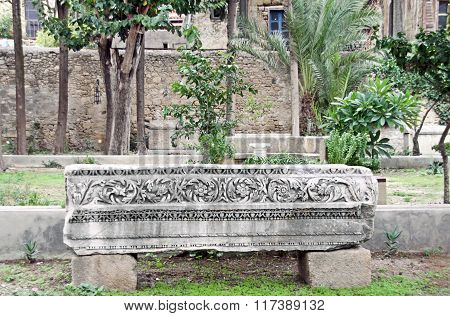 Ancient Stone Sarcophagus