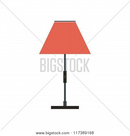 Floor lamp flat icon